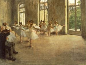 Degas painting of ballerinas