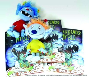 """There's A  Kid Under My Bed"" book and plush toys"