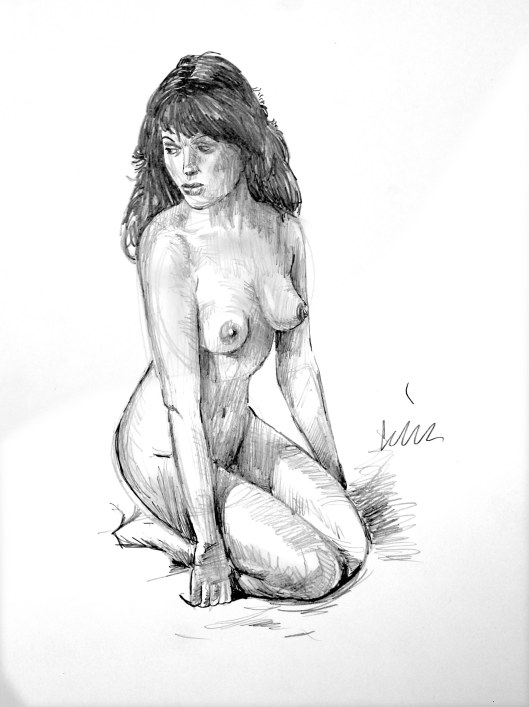 Lon Levin nude sketch of the day