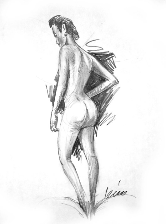 nude sketch by Lon Levin