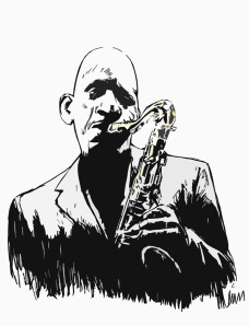 2nd sketch of Sonny Rollins by Lon Levin