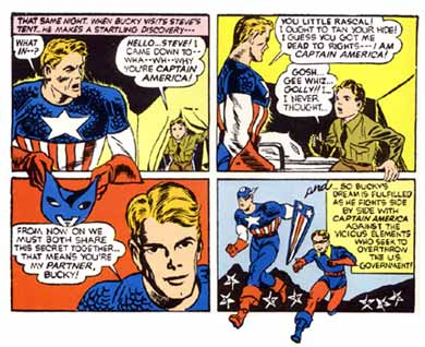 cartoon panels from Captain America