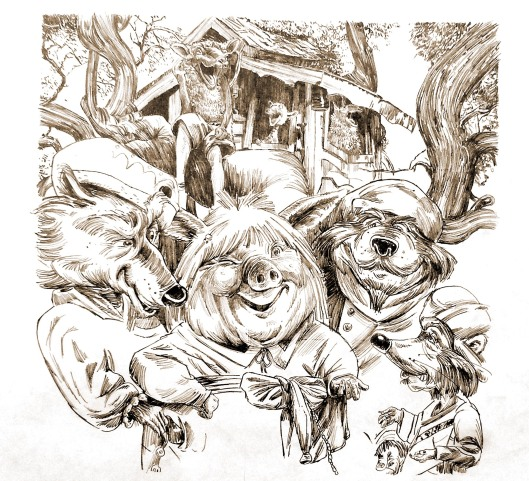 sketch for children's book by Lon Levin