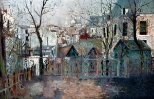 painting of Montemarte by Utrillo