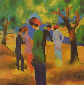 painting by August Macke