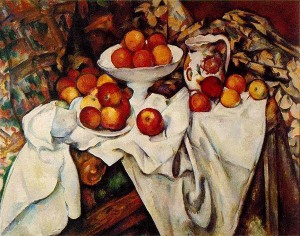 apples and oranges painted by Cezanné