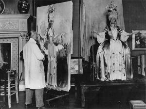 Van Dongen in his studio