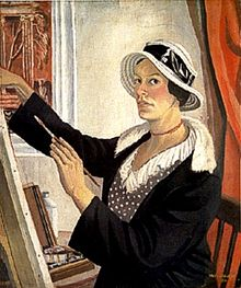 self-portrait by Mary Adshead