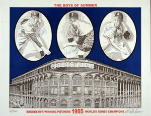 poster of Dodgers 1955 series winners