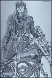 biker poster by Tinkelman