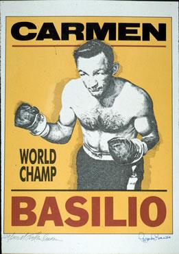 Tinkelman poster of Carmen Basilio