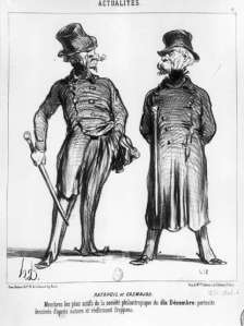 Two men by daumier