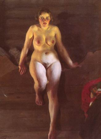 nude sitting by Anders Zorn