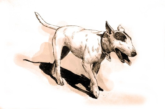 dog sketch by Lon Levin