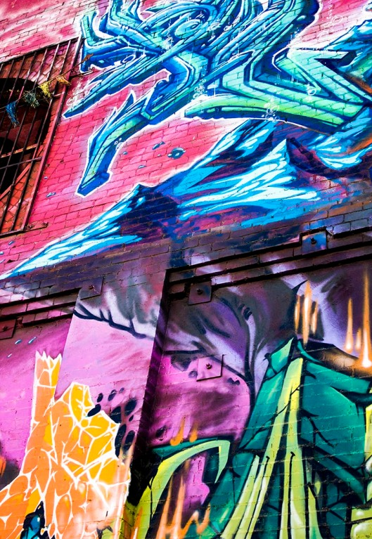 graffitti on building