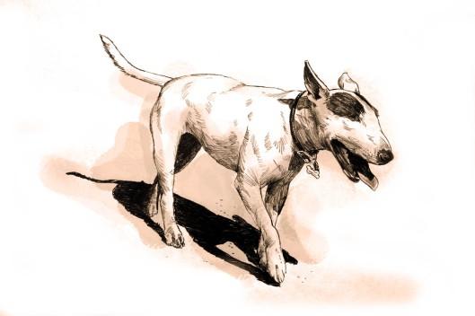 dog sketch by Lon Levin